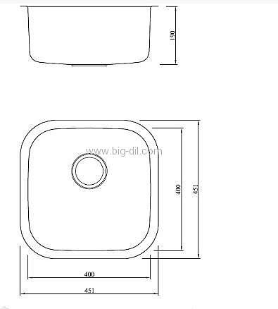 רק החוצה ביג דיל כיור מטבח נירוסטה קטן טורו | כיורים למטבח | UZ-98