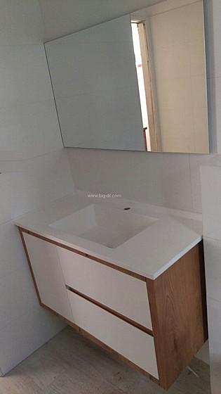 מפואר ארון אמבטיה אפוקסי בשילוב פורניר | ביג דיל HB-14
